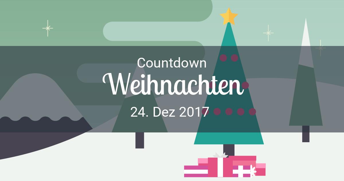 tage bis weihnachten countdown bis 24 dez 2017