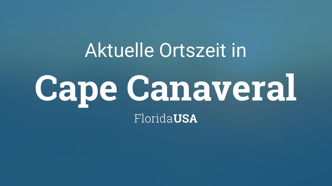 Uhrzeit Cape Canaveral Florida Usa