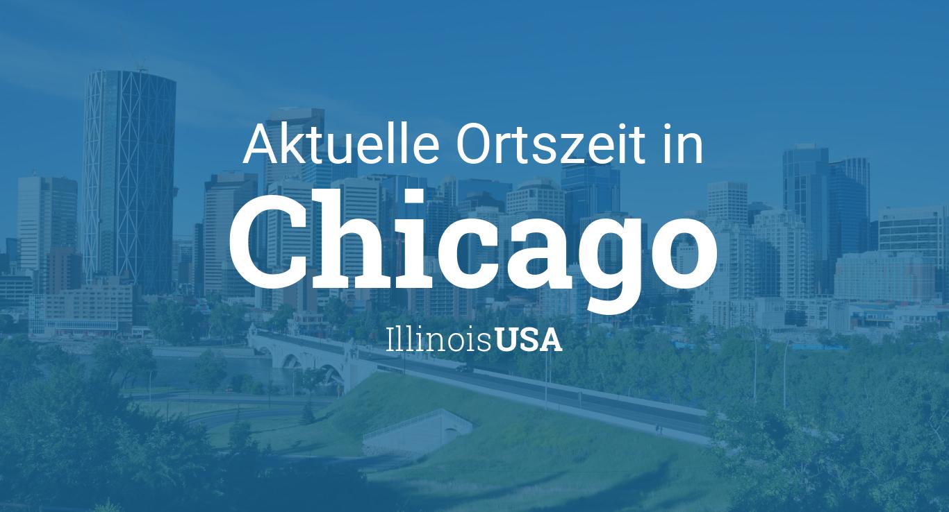 Uhrzeit Chicago, Illinois, USA