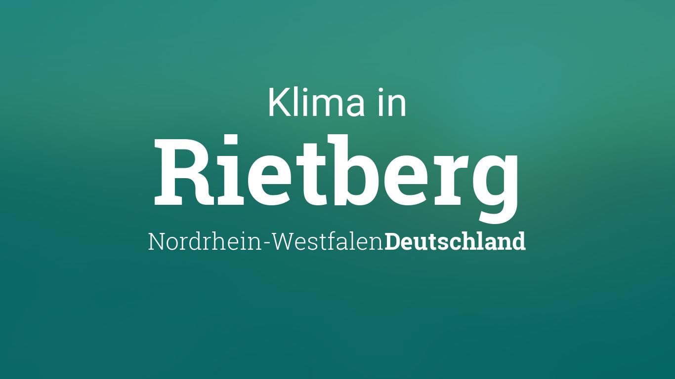 Wetter In Rietberg