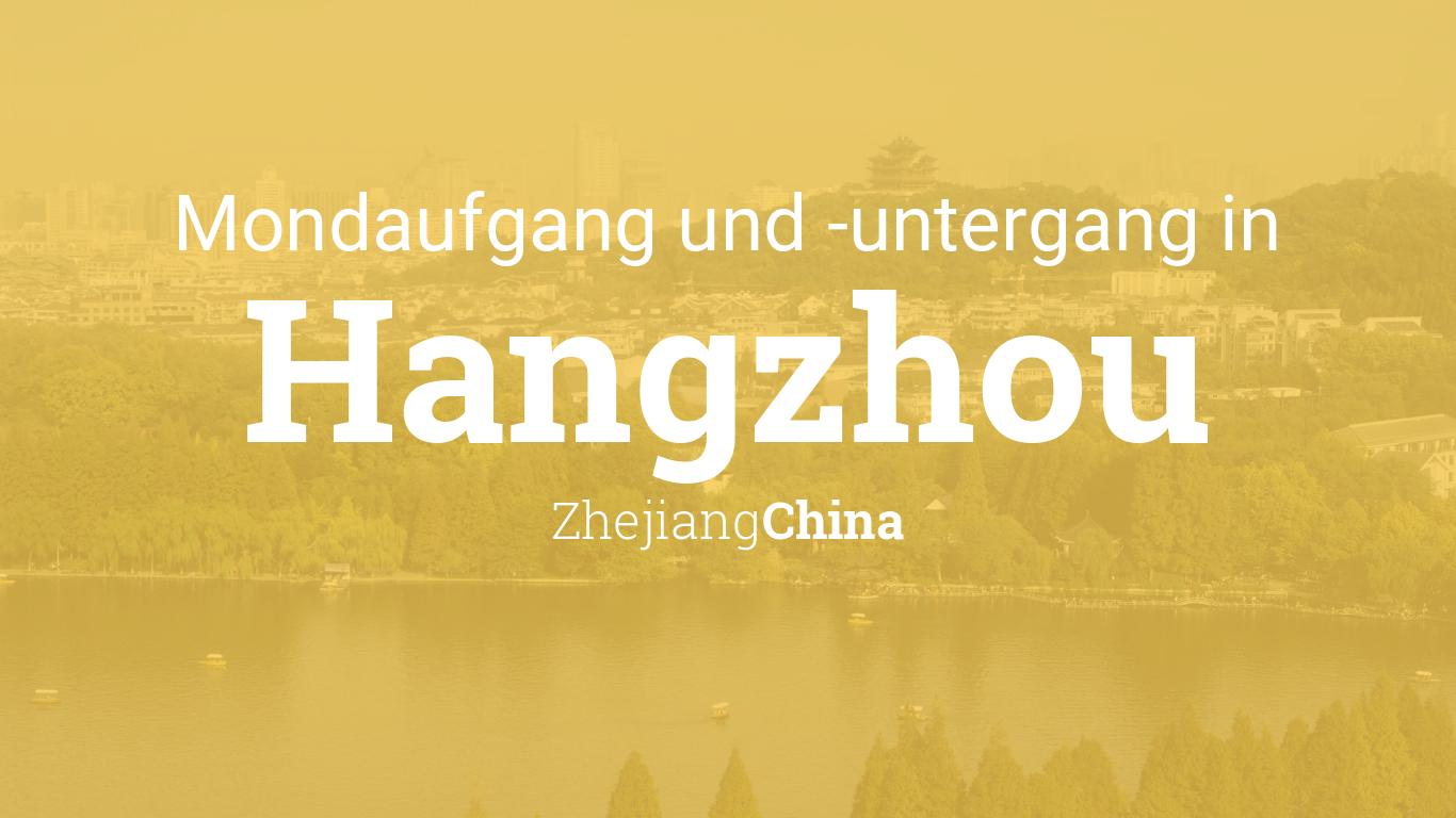 Uhrzeit Hangzhou