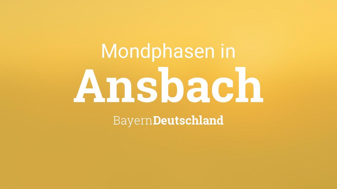 Vollmond 2019 Mondkalender Ansbach Bayern Deutschland