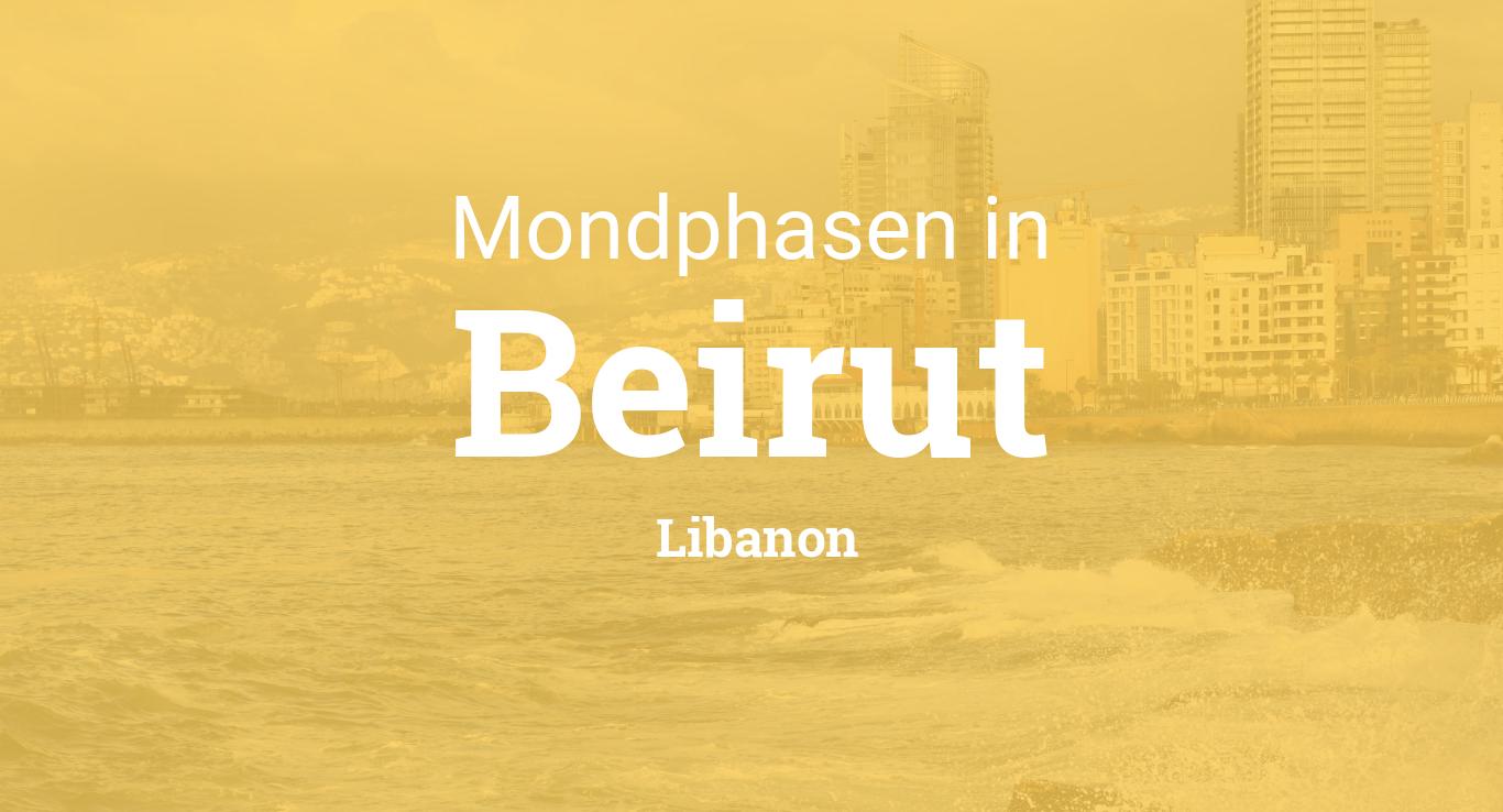 mondphasen 2018 mond heute in beirut libanon. Black Bedroom Furniture Sets. Home Design Ideas