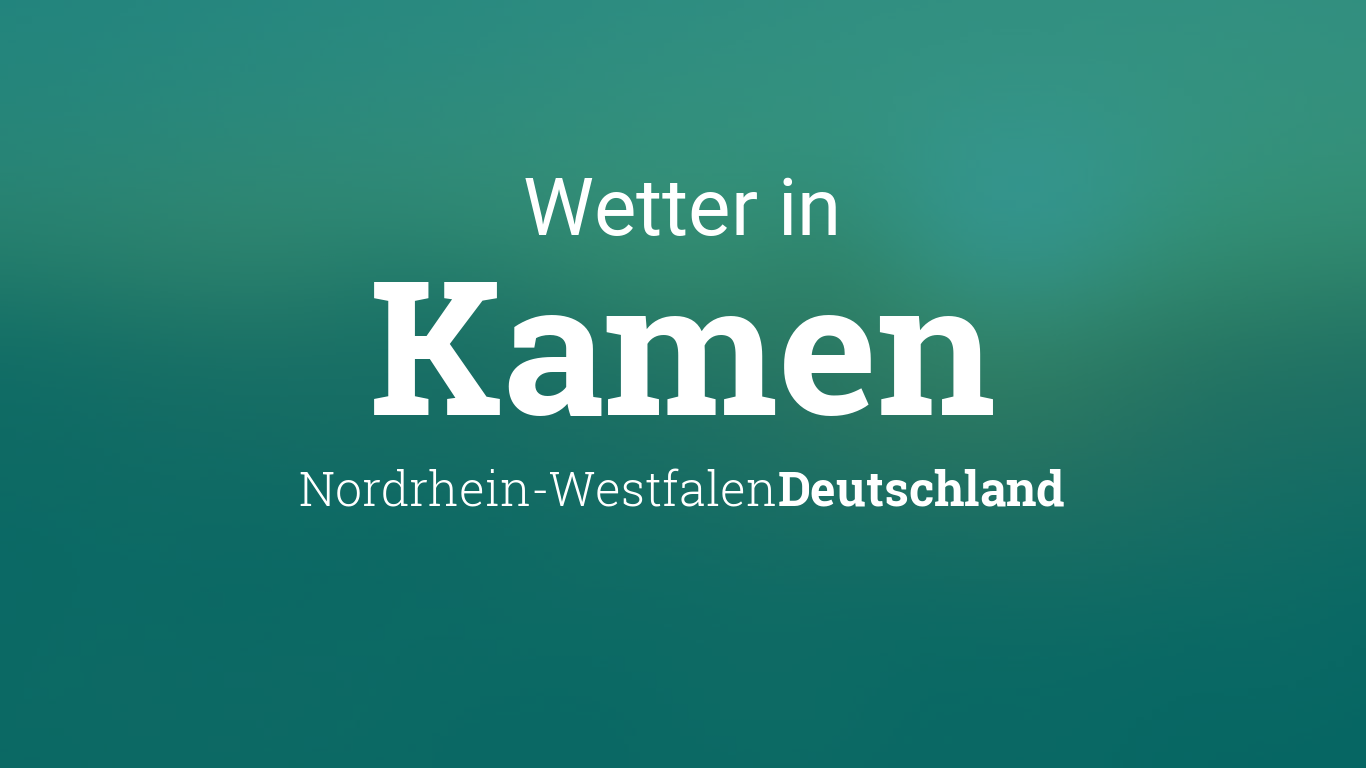 Wetter Morgen In Kamen