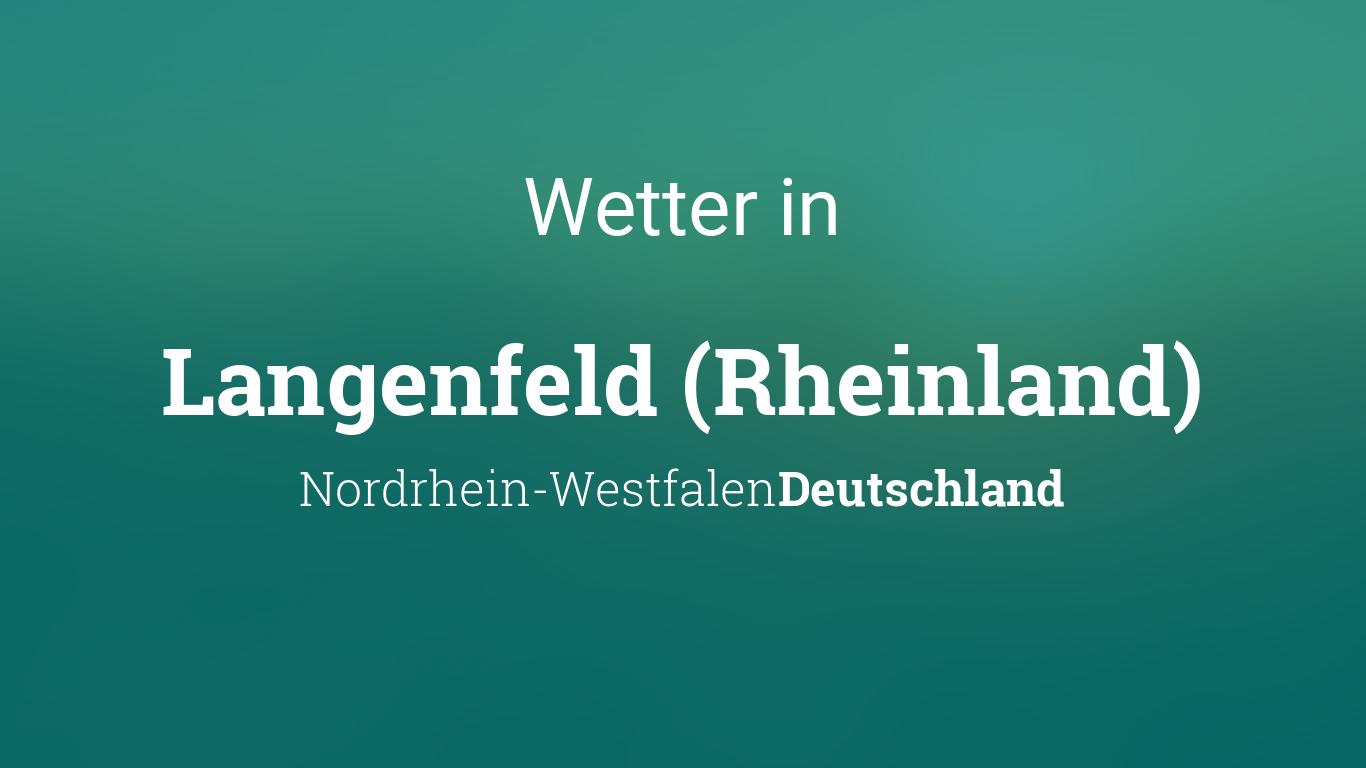 Wetter In Langenfeld