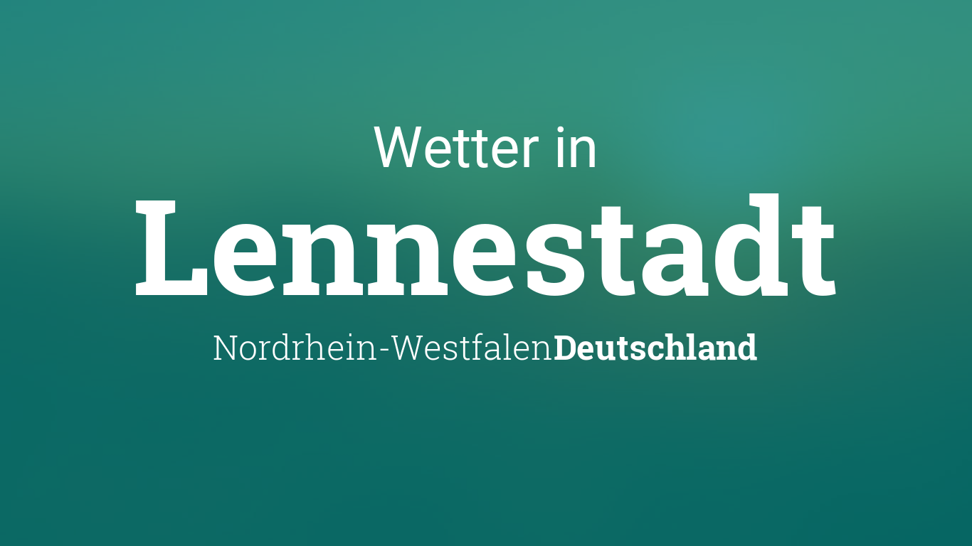 Wetter Lennestadt
