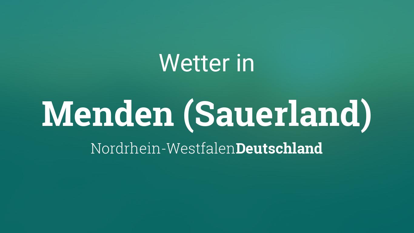 Wetter Menden Sauerland