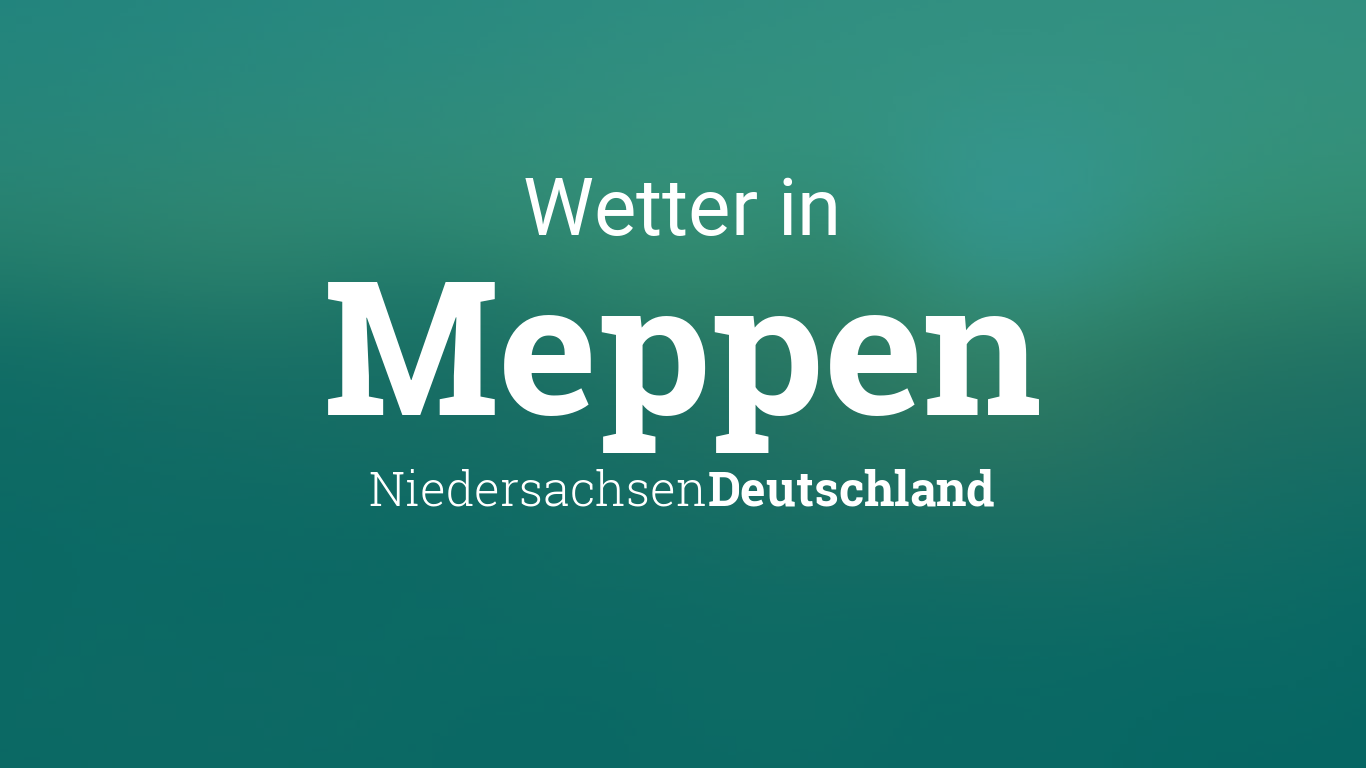 Wetter Meppen 14 Tage