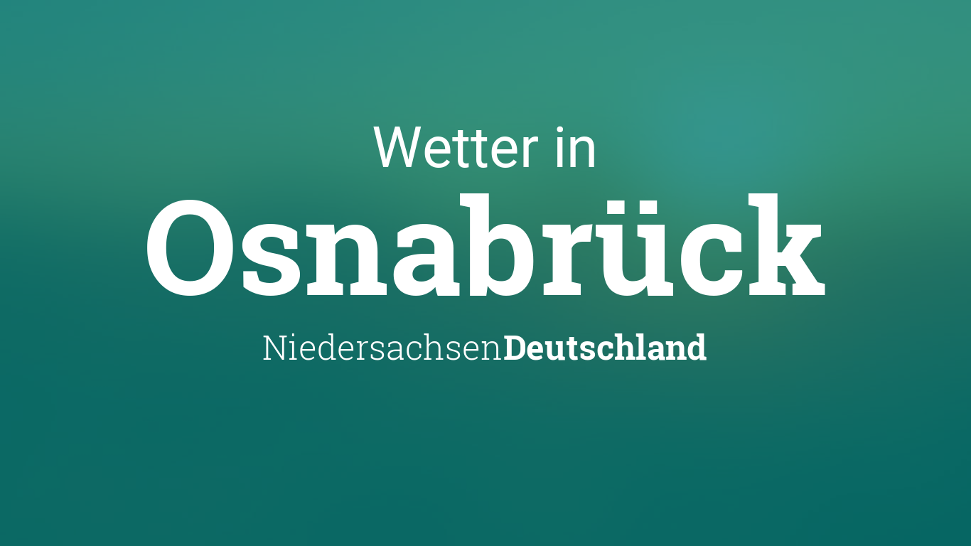 Wetter In Osnabrück Heute