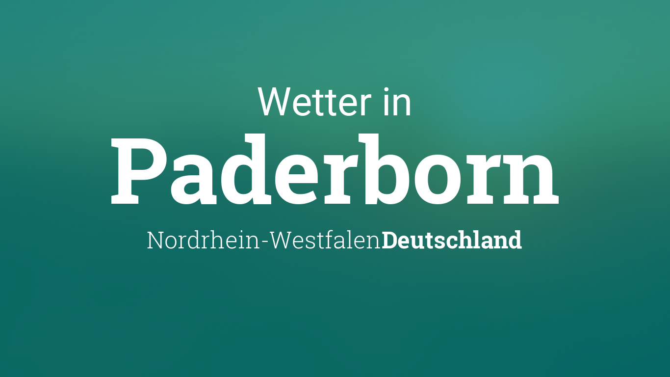 Wetter In Paderborn 10 Tage