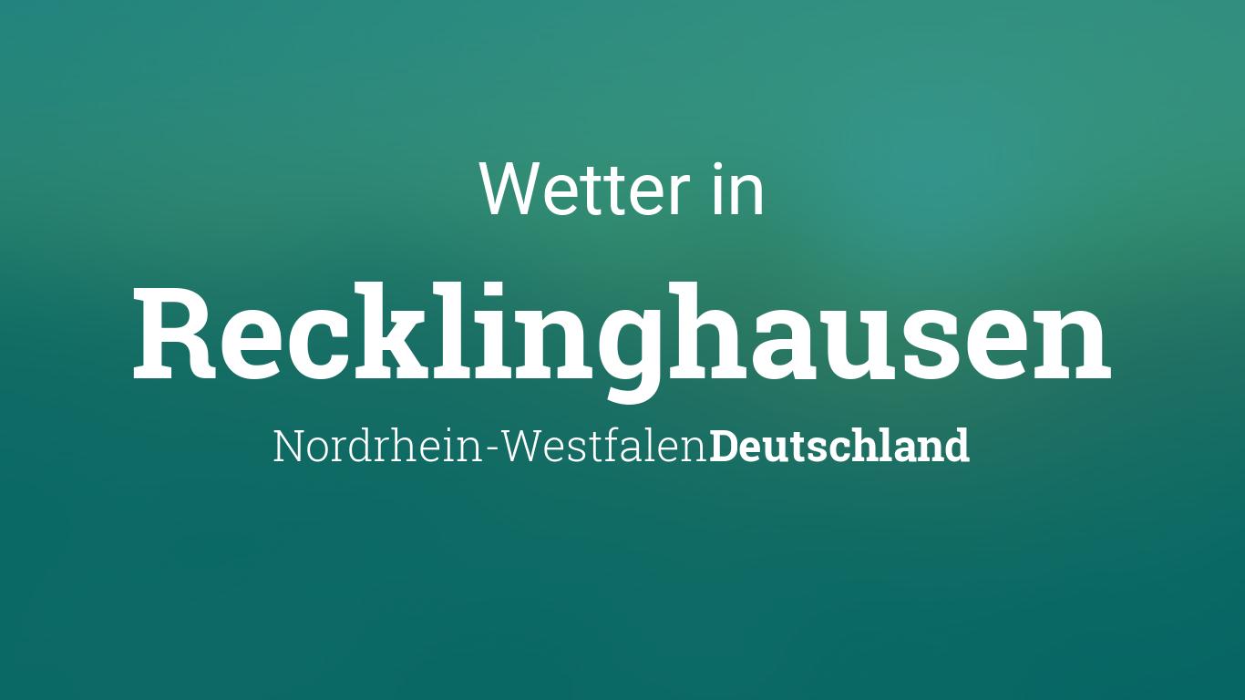 Wetter Heute Recklinghausen