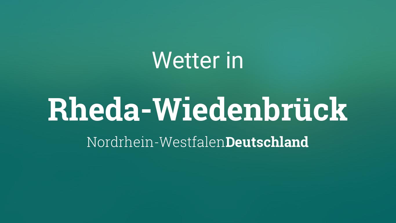 Wetter Online Rheda-WiedenbrГјck