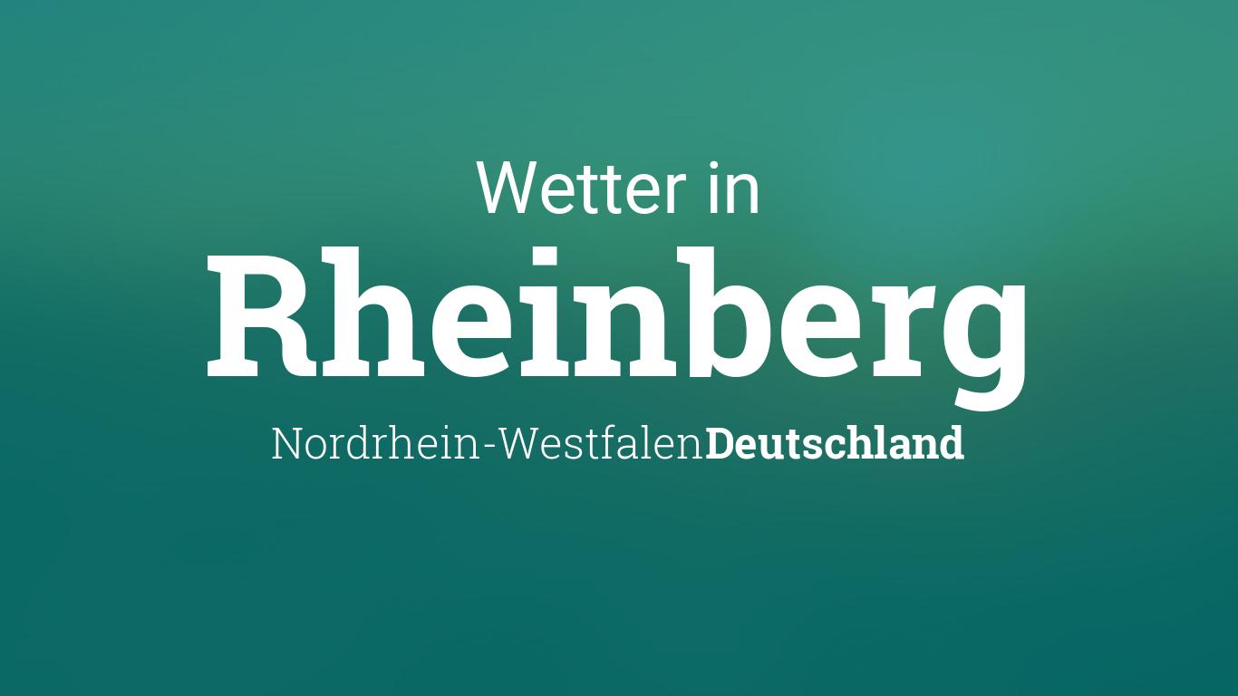 Wetter Rheinberg 14 Tage