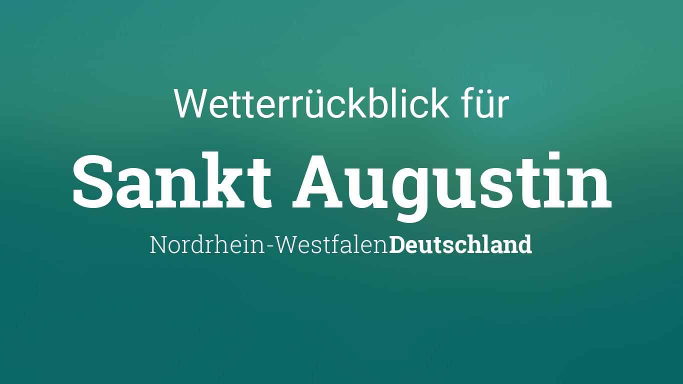 Wetterrückblick Sankt Augustin Nordrhein Westfalen Deutschland