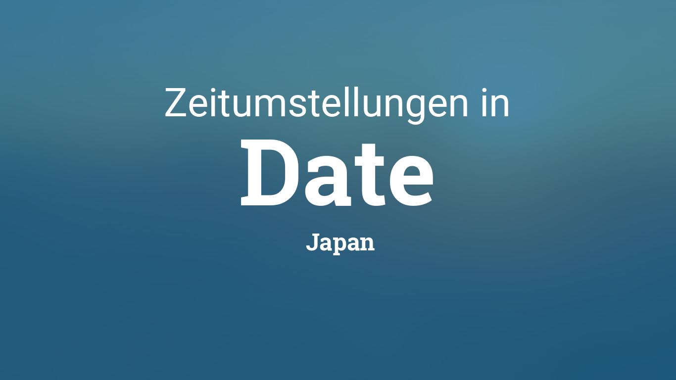 Zeitumstellung Japan