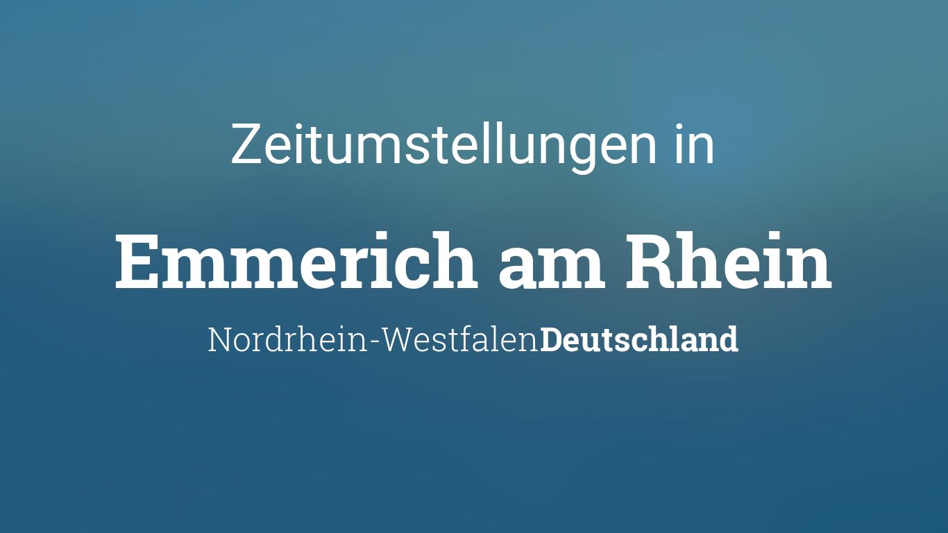 Wetter Emmerich Am Rhein 14 Tage