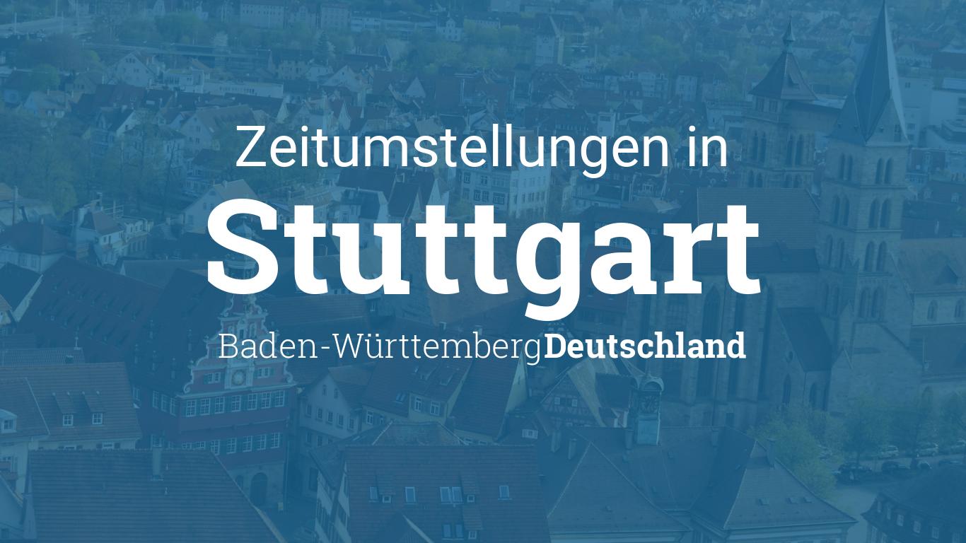zeitumstellung 2019 sommerzeit in stuttgart baden w rttemberg deutschland. Black Bedroom Furniture Sets. Home Design Ideas
