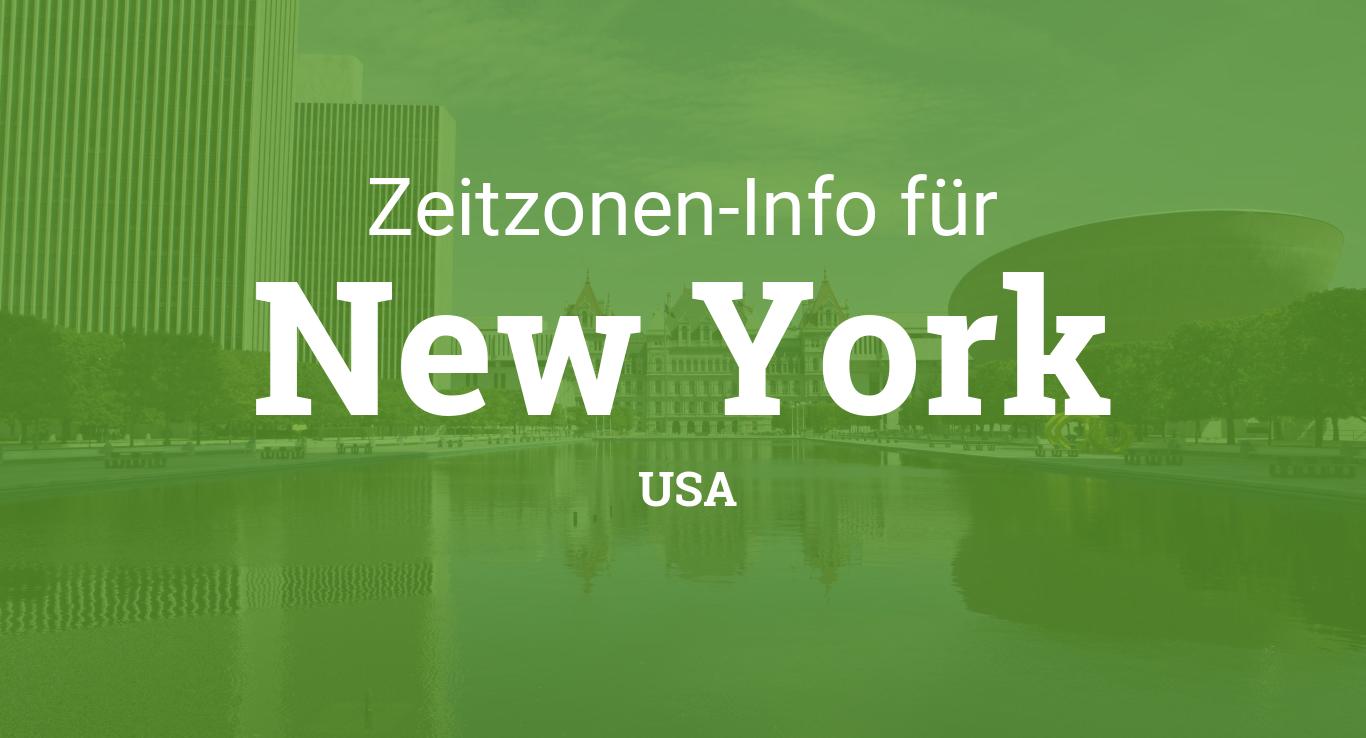 Zeitzonen In New York Usa