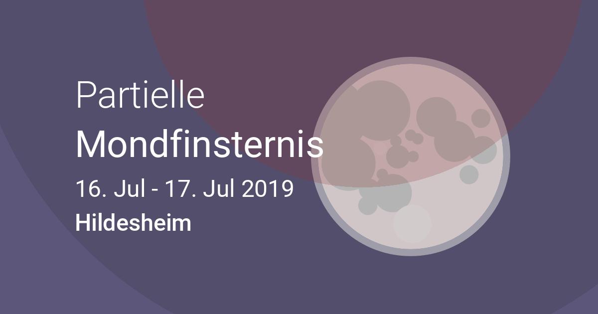 Nächste Finsternis In Hildesheim Niedersachsen Deutschland