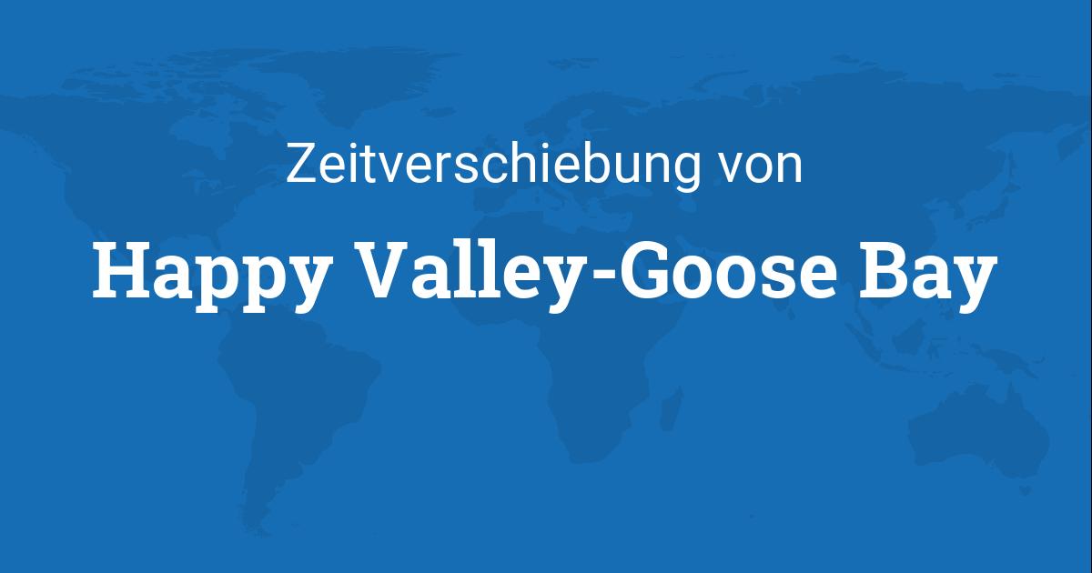 zeitverschiebung von happy valley goose bay neufundland. Black Bedroom Furniture Sets. Home Design Ideas